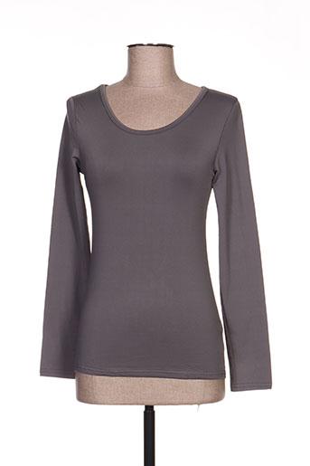 angelie t-shirts femme de couleur gris