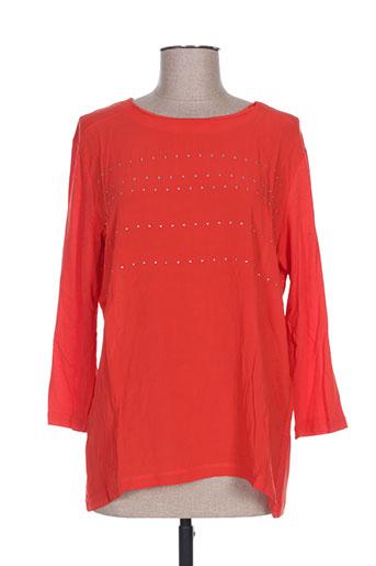diane laury chemises femme de couleur orange