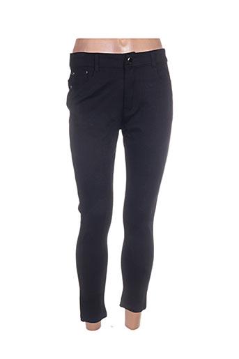 justine.z pantalons femme de couleur noir