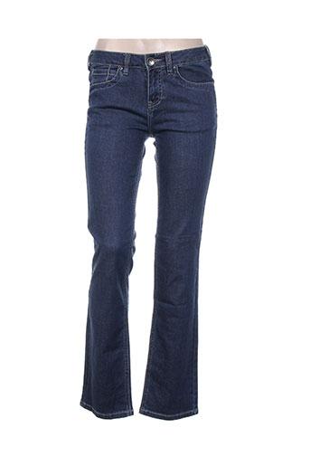 funaki jeans femme de couleur bleu