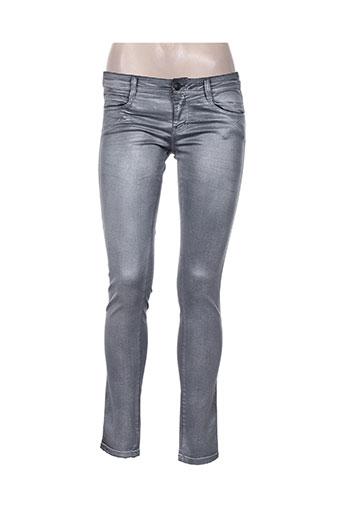 denny rose jeans femme de couleur gris