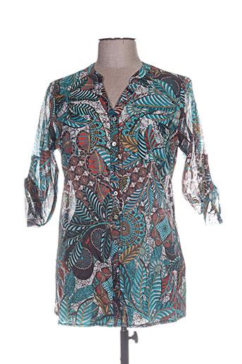 armand thierry chemises femme de couleur marron