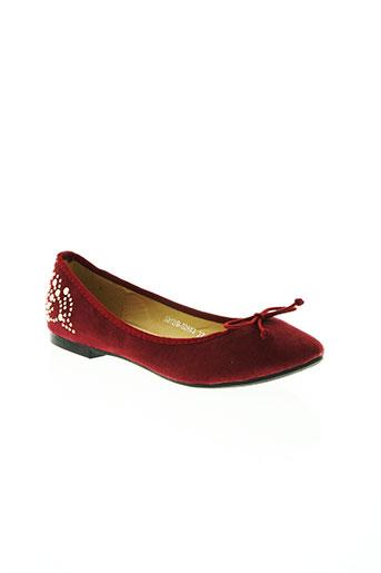 texto chaussures femme de couleur rouge