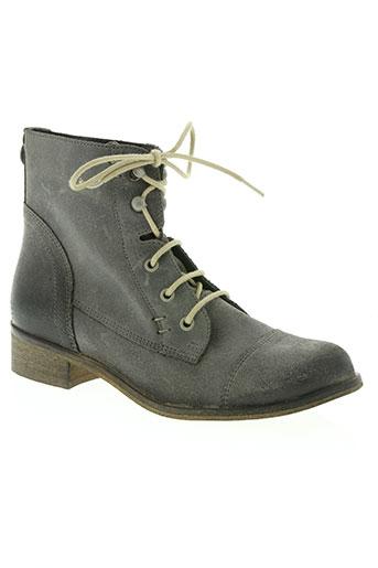 texto chaussures femme de couleur gris
