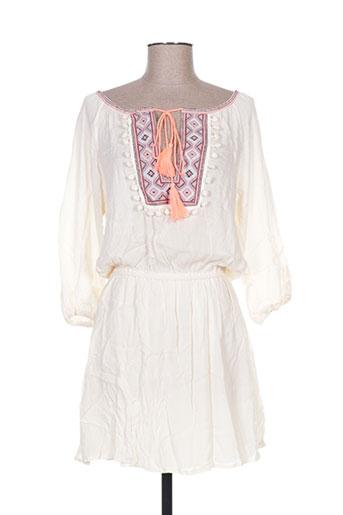 miss koo robes femme de couleur beige