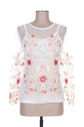 miss koo chemises femme de couleur blanc