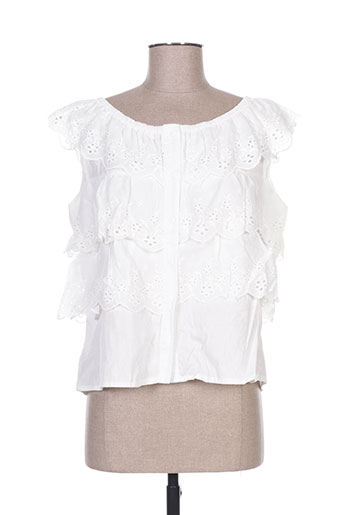 luzabelle chemises femme de couleur blanc