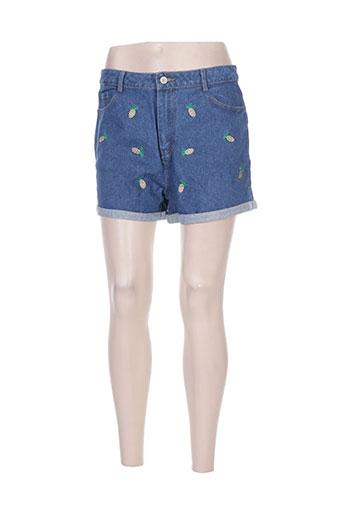 daphnea shorts / bermudas femme de couleur bleu