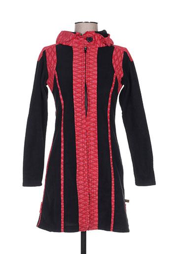bamboo's manteaux femme de couleur rouge