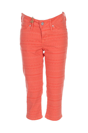 mustang pantacourts femme de couleur orange