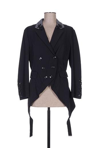 high vestes femme de couleur noir