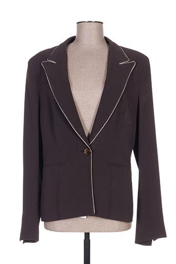 maxmara vestes femme de couleur marron