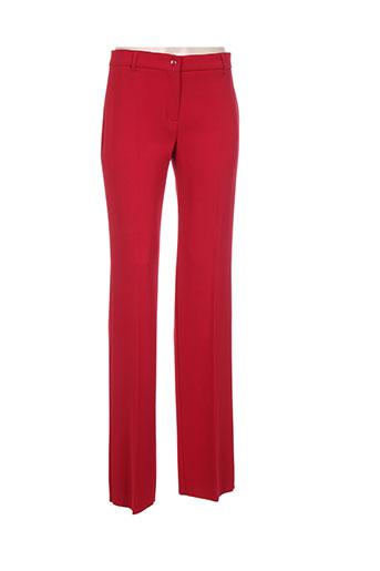 maxmara pantalons femme de couleur rouge