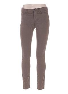 Pantalon casual marron MAXMARA pour femme