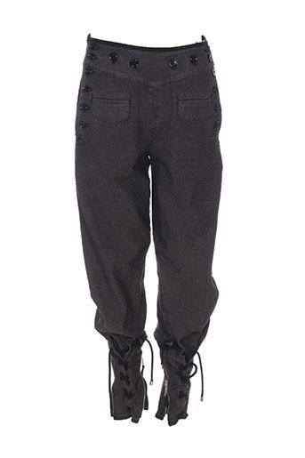 high pantalons femme de couleur gris