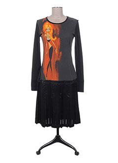 Robe mi-longue noir CUSTO pour femme