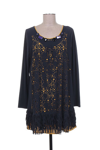 tricot chic tuniques femme de couleur bleu