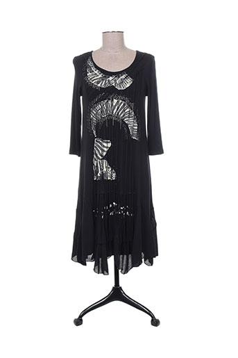 Robe mi-longue noir DIDIER PARAKIAN pour femme