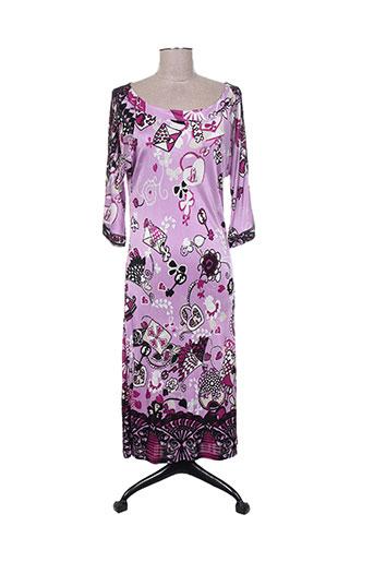 Robe mi-longue rose MARELLA pour femme