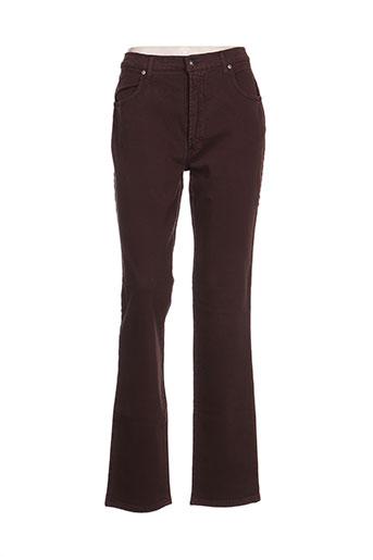 trussardi jeans pantalons femme de couleur marron