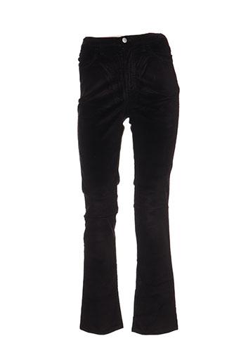 trussardi jeans pantalons femme de couleur noir
