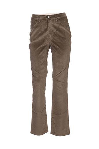 trussardi jeans pantalons femme de couleur vert