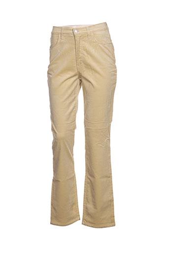 trussardi jeans pantalons femme de couleur jaune