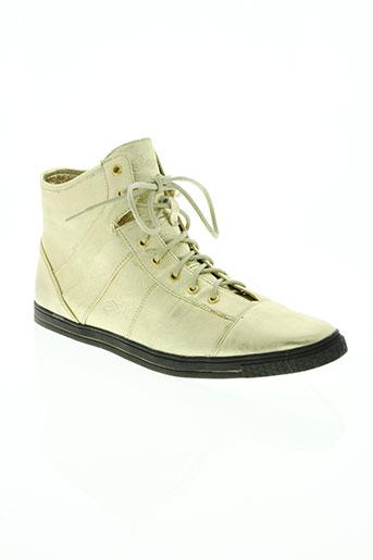 kaporal chaussures femme de couleur jaune