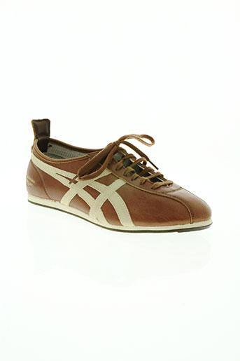 onitsuka tiger chaussures homme de couleur marron