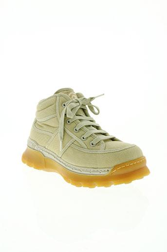 art chaussures homme de couleur beige