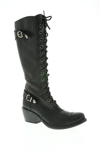 fluxa chaussures femme de couleur noir