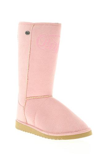 buffalo chaussures femme de couleur rose