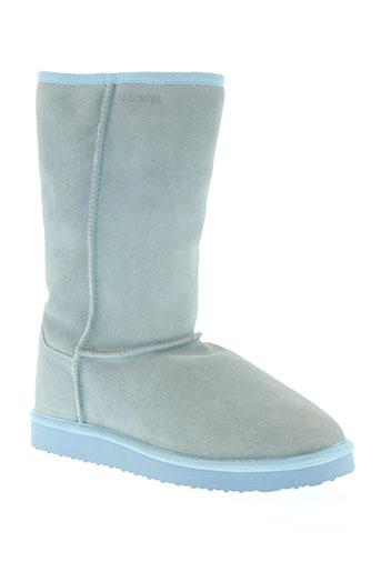 skechers chaussures femme de couleur bleu