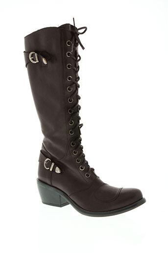 fluxa chaussures femme de couleur marron
