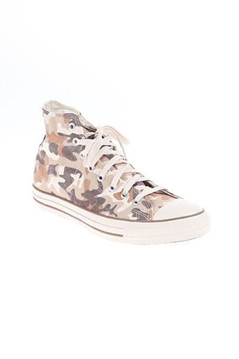 converse chaussures femme de couleur beige