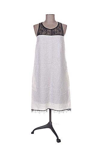 lauren vidal robes femme de couleur blanc