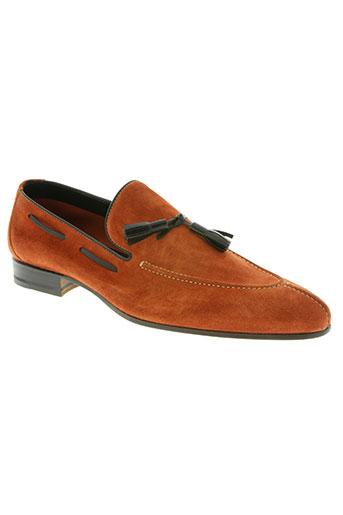 carvil chaussures homme de couleur orange