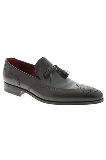 carvil chaussures homme de couleur rouge