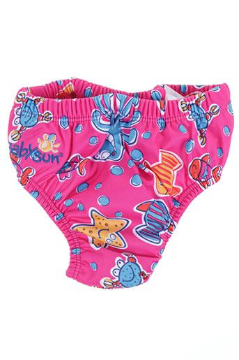 Bas de maillot de bain rose BABYSUN pour fille