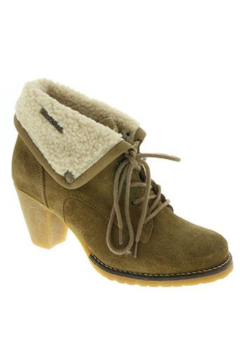 le temps des cerises chaussures femme de couleur beige