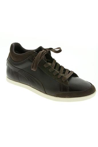 puma chaussures homme de couleur marron