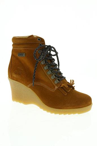 le temps des cerises chaussures femme de couleur marron