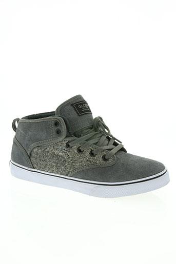 globe chaussures homme de couleur gris