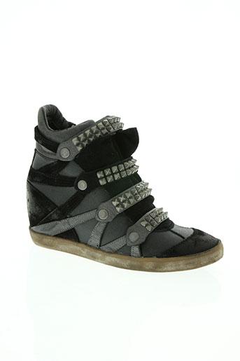 crime chaussures femme de couleur gris
