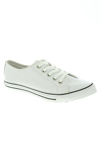 underground chaussures femme de couleur blanc