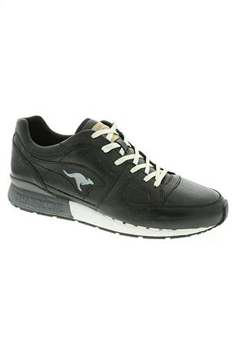 kangaroos chaussures homme de couleur noir