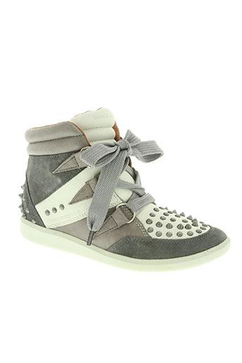 groundfive chaussures femme de couleur gris