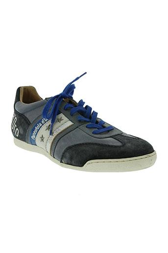 pantofola d'oro chaussures homme de couleur bleu