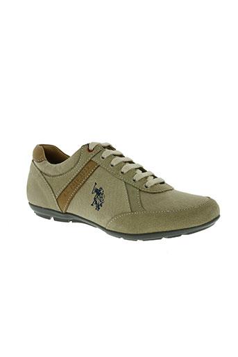 u.s. polo assn chaussures homme de couleur beige