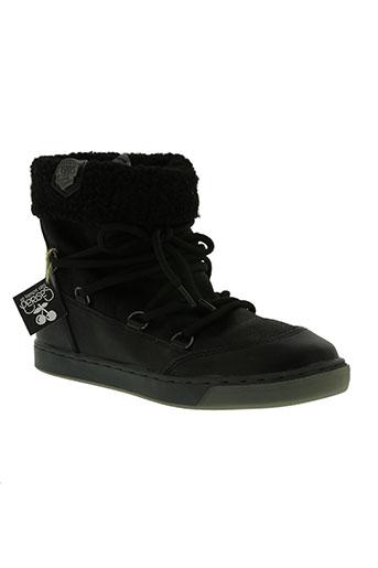 le temps des cerises chaussures femme de couleur noir